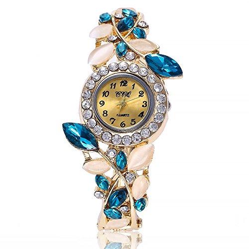 (Sacow Women Stainless-Steel Military Analog Quartz Bracelet Watches (C))