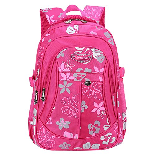 Cheap Wayee Kids School Backpack Girls Casual Printed Bookbag (Hot Pink, Large)