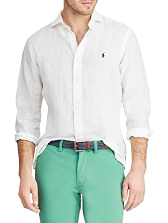 e4da6aaaa Image Unavailable. Image not available for. Color  Polo Ralph Lauren Men s  Classic Fit Linen Shirt ...