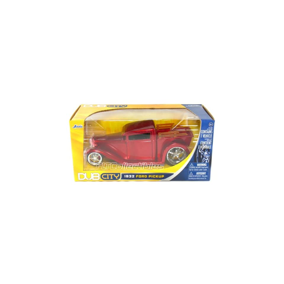 Jada 1932 Ford Pickup 1/24 Scale DUB City (Red) Toys & Games