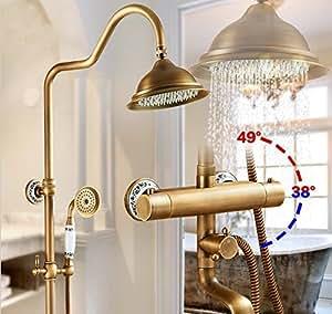 pared gowe lat n ducha mezclador termost tico grifo ducha