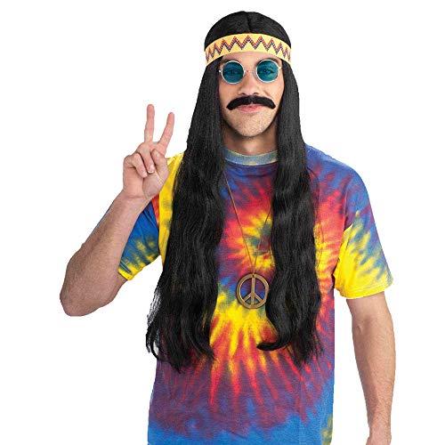 Forum Novelties Men's Hippie Dude Headband Long Costume