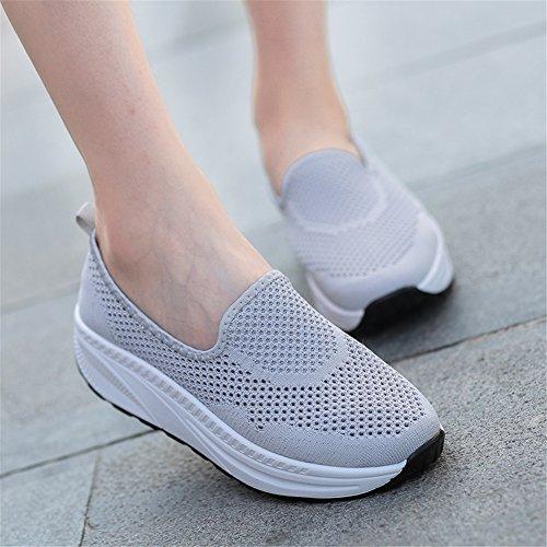 diario Fitness mujer Shake Para Zapatos de Spring SHINIK Rosa D para Shoes Azul Zapatos Casual Negro gris caminar Zapatos Summer Sneakers de Comfort lona AqnT4xnP