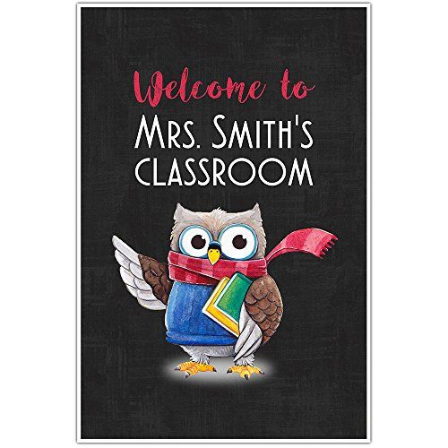 Welcome to Classroom Owl Personalized School Poster