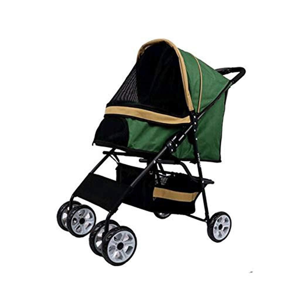 6 TYT 30 Kg or Less Out Light Portable Pet Stroller Cat Carrier Dog Small Wheel Trailer Travel Transport Folding (color   6)