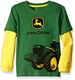 John Deere Little Boys Tractor Mud Logo Tee, Green/Yellow, 6