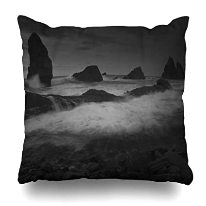 Amazon.com: Ahawoso Throw Pillow Cover Costa Alone Seascape ...