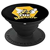 The Bee Guy - Honeybee & Honeycomb For Beekeepers - Black - PopSockets Grip and Stand for Phones and Tablets