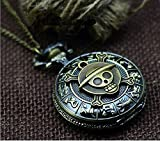 Best Necklace Animes - Steampunk Anime One Piece Necklace, Brass Zodiac Pocket Review