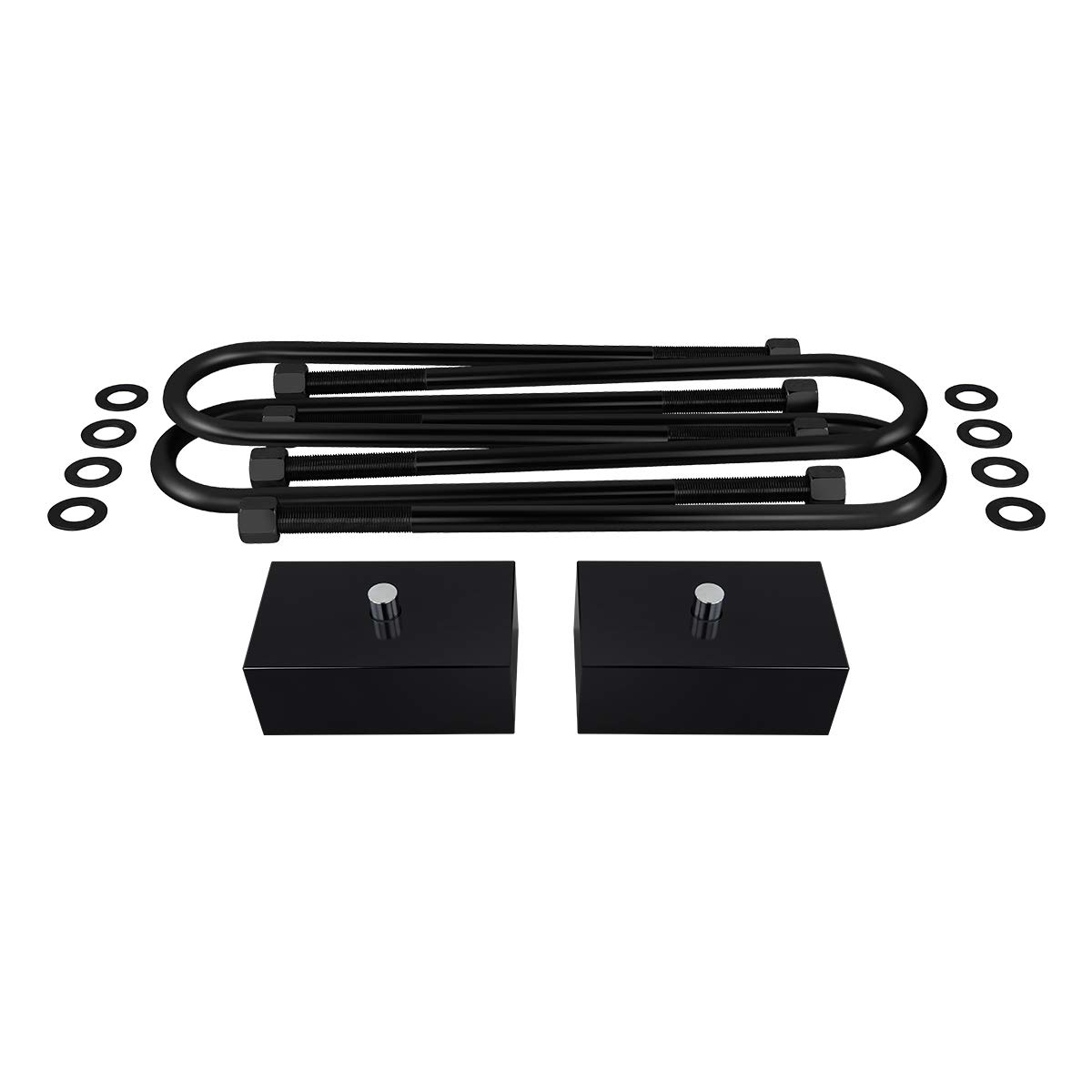 3 Rear Lift Kit Shock Extenders Supreme Suspensions Full Lift Kit for 2005-2018 Ford F250 F350 Super Duty w//OVERLOADS 3 Front Bump Stop Spacers 4WD Black Brake Line /& Sway Bar Brackets