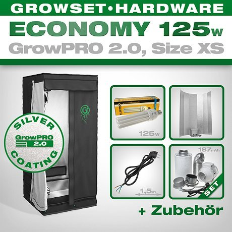 Growbox GrowPRO 2.0 XS - Grow Set für Indoor Homegrow - ESL...
