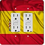 Rikki Knight 1686 Gfidouble Spain Flag Design Light Switch Plate