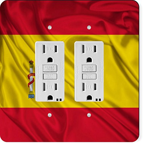 Rikki Knight 1686 Gfidouble Spain Flag Design Light Switch Plate by Rikki Knight