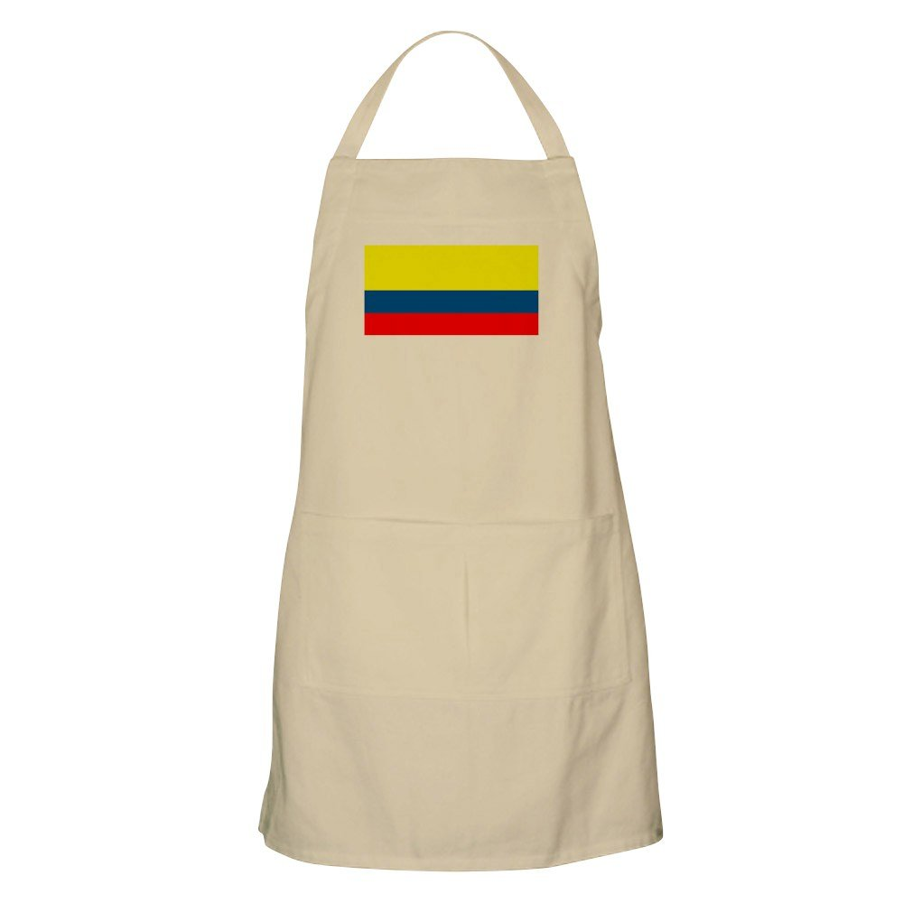 CafePress - Colombia Colombian Blank Flag BBQ Apron - Kitchen Apron with Pockets