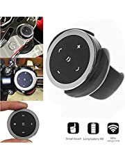 PolarLander Car Wireless Bluetooth Remote Controller Phone Car Kit Steering Wheel Remote Controller Receiver CR2032 Battery for iOS Android