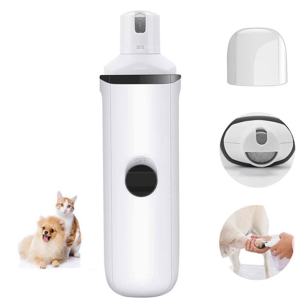 Electric Pet Nail Grinder by for Gentle and Painless Paw Grooming, Trimming, Shaping and Smoothing for Dogs, Cats, Rabbits and Birds - Portable