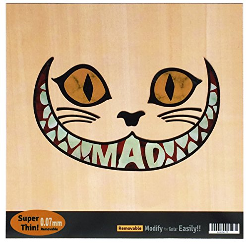 Mad Cheshire Cat - Cheshire Cat Mad Cat Inlay Sticker Decal For Guitar & Bass , Ukulele (BP)