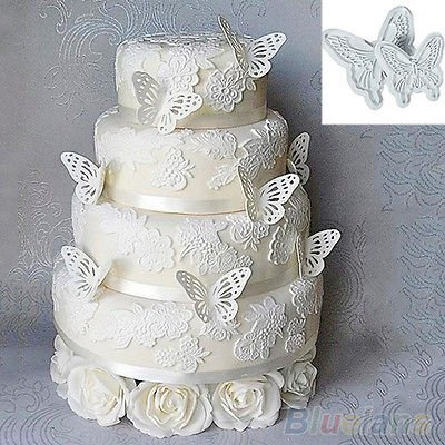 HI BOOM Butterfly Fondant Decorating Plunger