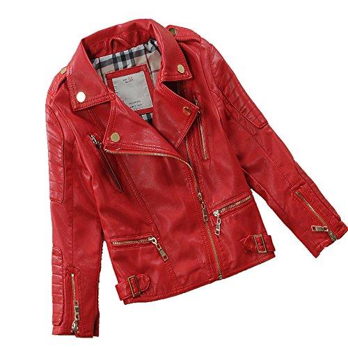 LJYH Child's Spring Autumn Lapel Motorcylce Faux Leather -