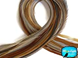 Moonlight Feather, Hair Extension Feathers - Medium Honey Ginger Color - 7-10 Inches Long, 10 Feathers