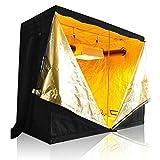 LAGarden 96x48x78″ 600D 100% Reflective Diamond Mylar Hydroponics Indoor Grow Tent Non Toxic Planting Room