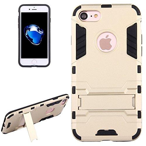 SANHENGMIAO US Se Aplica al iPhone para el chasis y el Soporte Desmontables de TPU + PC para iPhone 7 (Color : Oro)