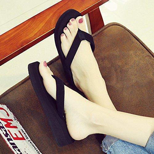 señoras chancletas estilo clip cool playa resbaladizas de FLYRCX inferior de Verano nuevo calzado b moda pie grueso zapatillas Fqwt06Zx