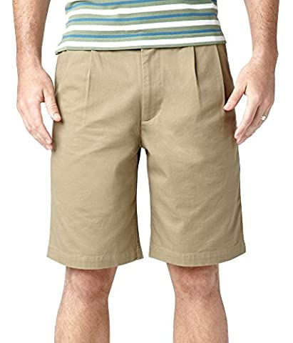 Dockers Men's Perfect Short D3 Classic-Fit Pleated Short - 44W - British Khaki