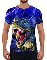 Alistyle Unisex Fashion 3D Print T-Shirts Ocean Animal Pattern Graphics Short Sleeve Tees for Mens Womens