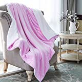 How Big Is a King Size Bed HoroM Sherpa Throw Blanket Pink 50