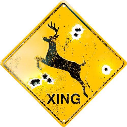 Deer Xing Crossing Sign by Hangtime (Sign Crossing Deer)