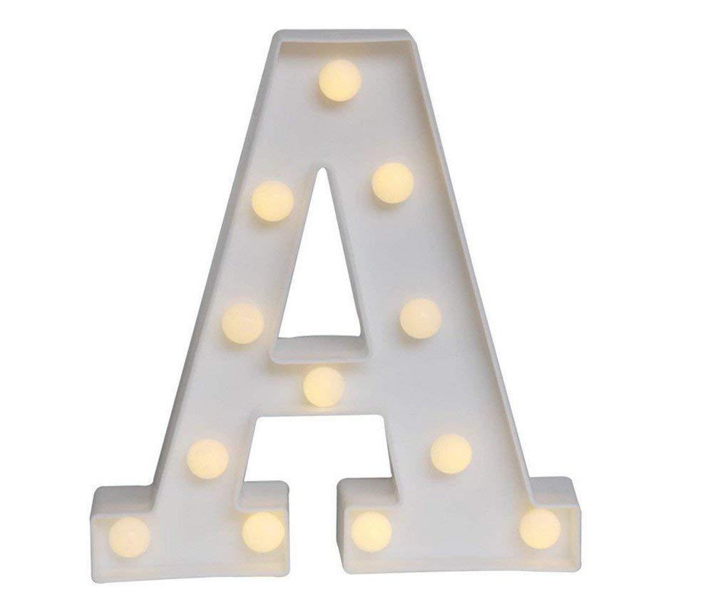 HWDJ001 Family Practical Letter Lights 3D Lighted Night Lights Tent Lights Battery Powered Night Lights Home Christmas Wedding Decoration (1)