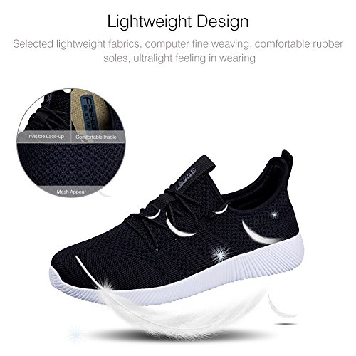 Men Lightweight Casual Women's Black Gym 11 45 Shoe Sneakers Walking M D Outdoor Sport Padgene US Unisex Shoes Knitted Athletic Running dHxwFXXAEq