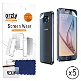 SAMSUNG GALAXY S6 Front & Back Screen Protectors - Multi-Pack of 5 Transparent Screen Protectors / 5x 100% Clear Screen Guards (5x Front plus 5x Back) - Designed by ORZLY® exclusively for SAMSUNG GALAXY S6 SmartPhone (Original 2015 Model)