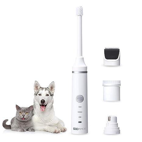 Cortaúñas para perros con cepillo de dientes para perro, extraíble, bajo nivel de ruido