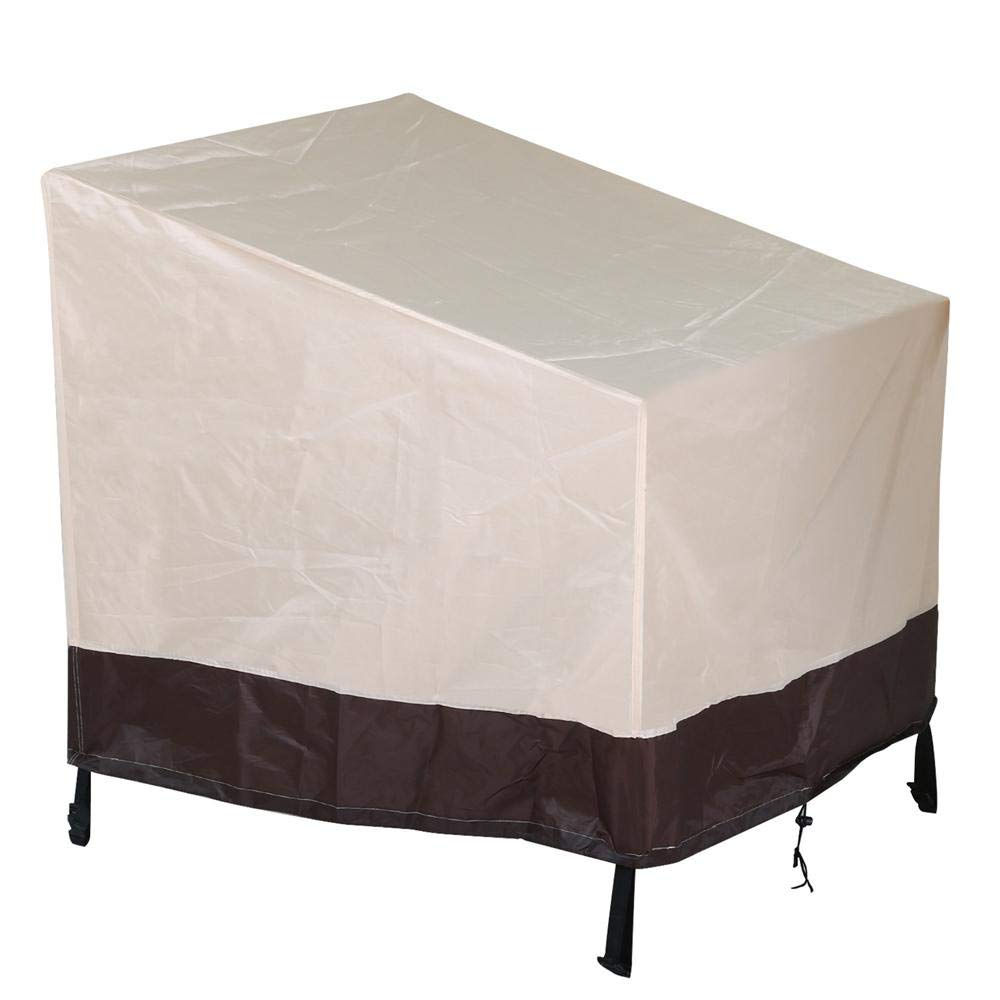 Yaheetech weatherproof outdoor patio cover furniture cover wicker chair cover41 x 38 x 37 tan