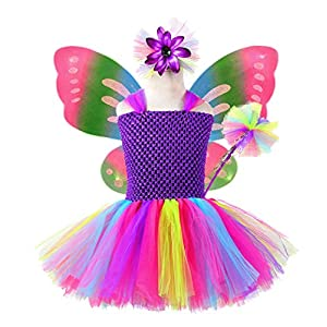 tutu dreams fairy costume for girls 4pcs fairy wings outfit birthday easter halloween party