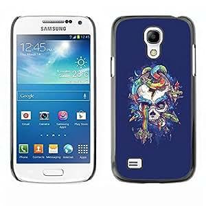 rígido protector delgado Shell Prima Delgada Casa Carcasa Funda Case Bandera Cover Armor para Samsung Galaxy S4 Mini i9190 MINI VERSION! /Purple Skull Snake Rainbow Colors/ STRONG