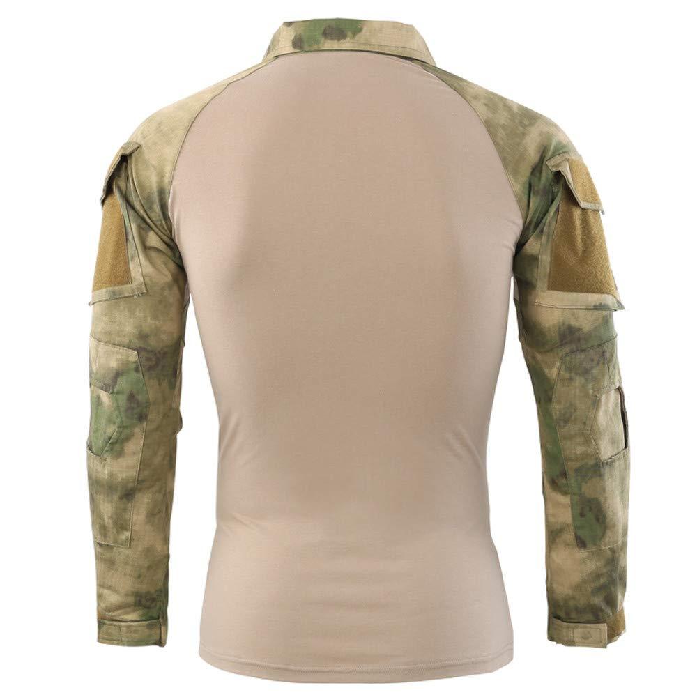 4763772bbd536 Amazon.com: Realdo Mens Military Polo Shirt, Tactical Battle Camo  Long-Sleeve Sport Outdoor Basic Top Shirt: Clothing
