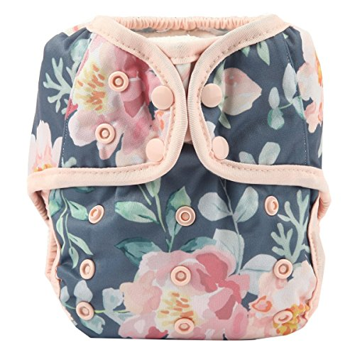 (One Size Cloth Diaper Cover Snap with Double Gusset (Rose))