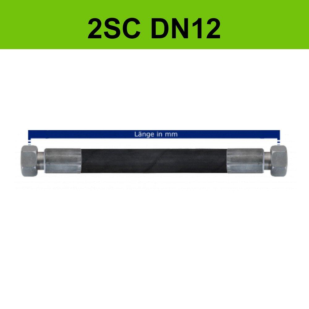 Hydraulikschlauch 2SC DN12 Metrisch (2 Meter) DerHydrauliker
