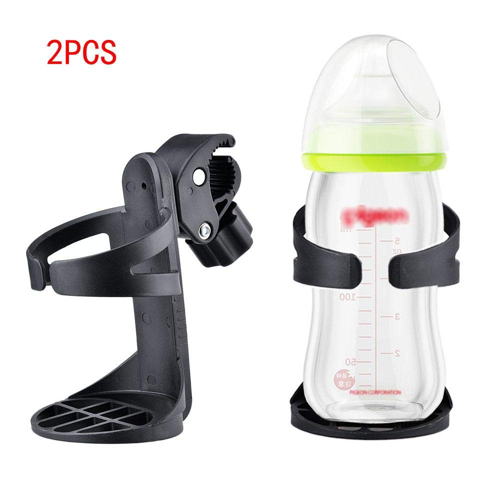 PER 2pcs Baby Stroller Cup Holder Feeding Bottle Fixed Mount Universal For Baby Carriage Strollers Children Tricycles Toddlers Bikes