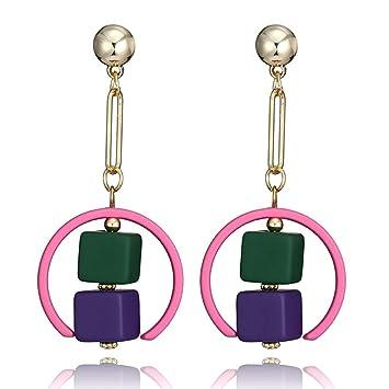 6b70b747d59f WJSAT Pendientes Coloridos Pendientes De Resina para Mujer Pendientes De  Color Caramelo para Los Encantos De