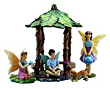 Pretmanns Fairy Garden Fairies – Miniature Accessories – Fairy Figurines with Boy Fairy & Dog – Gazebo Fairy Garden Kit – 5 pieces – Fairy Garden Supplies
