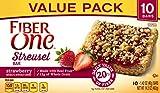 Fiber One Streusel Bar, Strawberry Streusel, Dessert Bar, 10 Fiber Bars, 14.2 oz (Pack of 6)
