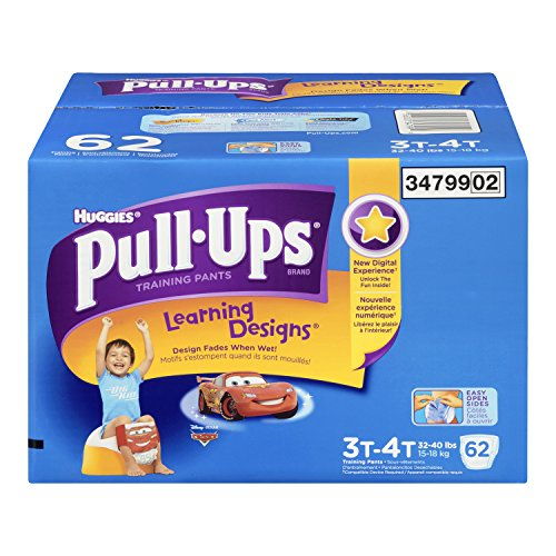 Huggies Pull-Ups Learning Designs Training Pants for Boys, Giga Pack, Size 3T-4T, 62 Count