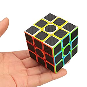 ZCUBE Speed Cube Puzzle [Four Cube Set] 333 +22 +Mirror cube+Keyring Carbon Fiber Sticker Rubiks Cube Set Magic Cube Best Children Gift Tot Sell