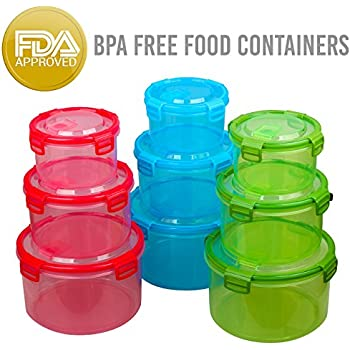 Amazoncom Food Storage Containers Set 18 Piece Plastic Air