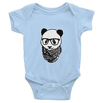 Hipster Panda Arabic Baby Onesie