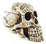 Day of The Dead Ouija Skull Figurine Skeleton 8.5'' Long Occult Spirit Witchcraft For Premium Home Garden Decor